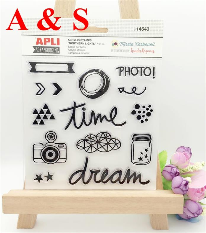 Dream Time Camera Transparent Clear Stamp Diy Silicone Seals