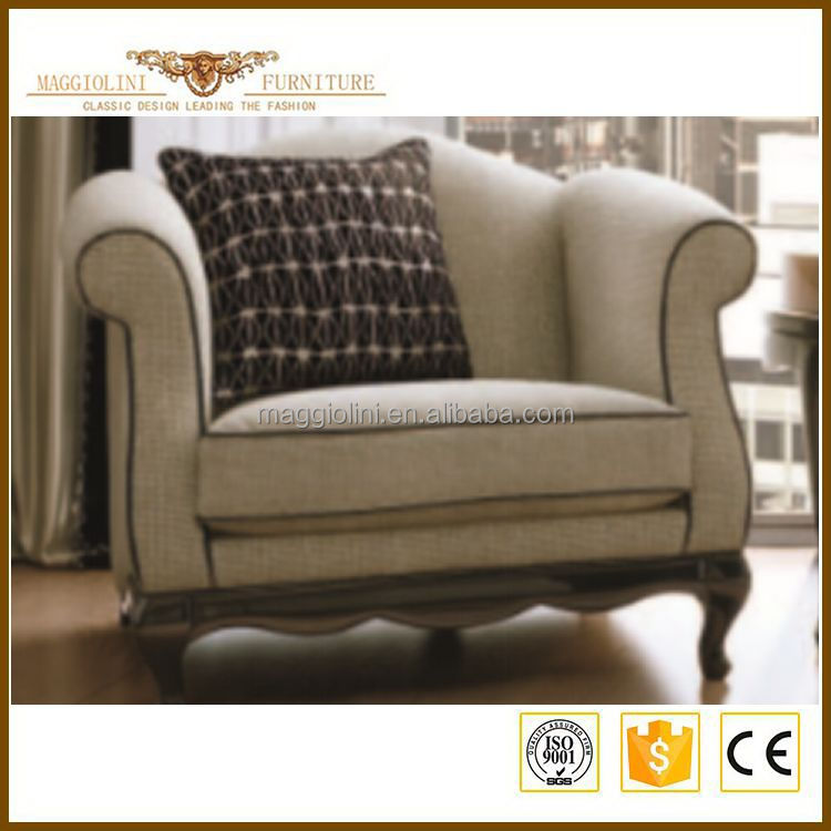 Wholesale organic eco-friendly white fabric sofa love seat