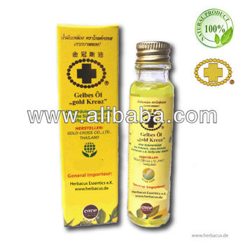 Gold Cross Yellow Herbal Pain Relief Oil