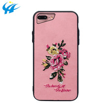cellphone accessory phone case floral embroider phone case for phone