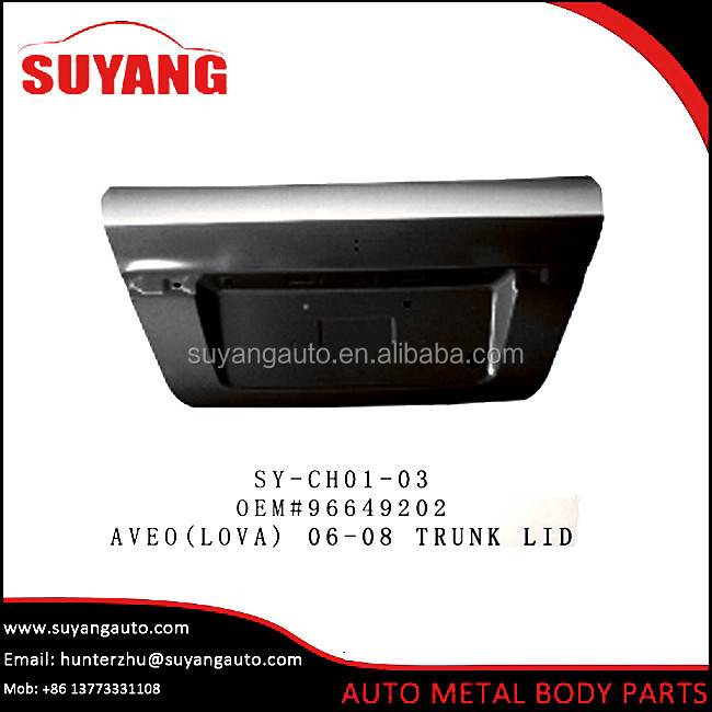 Aftermarket steel trunk lid for chevrolet aveo lova 06-08 auto body parts