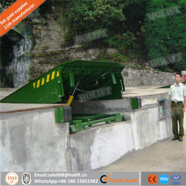 Holift brand Used Truck, Trailers Loading Ramps Electric Stationary Hydraulic Dock Leveler For Warehouse Lift Cargo