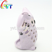 2018 Most popular hollow-out owl shape candle lantern for gifts