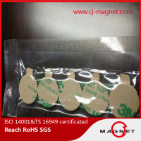 N45 permanent disc neodymium magnet with adhesive on two side