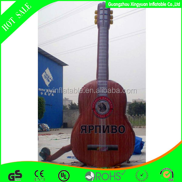 custom advertising wooden giant inflatable guitar for sale