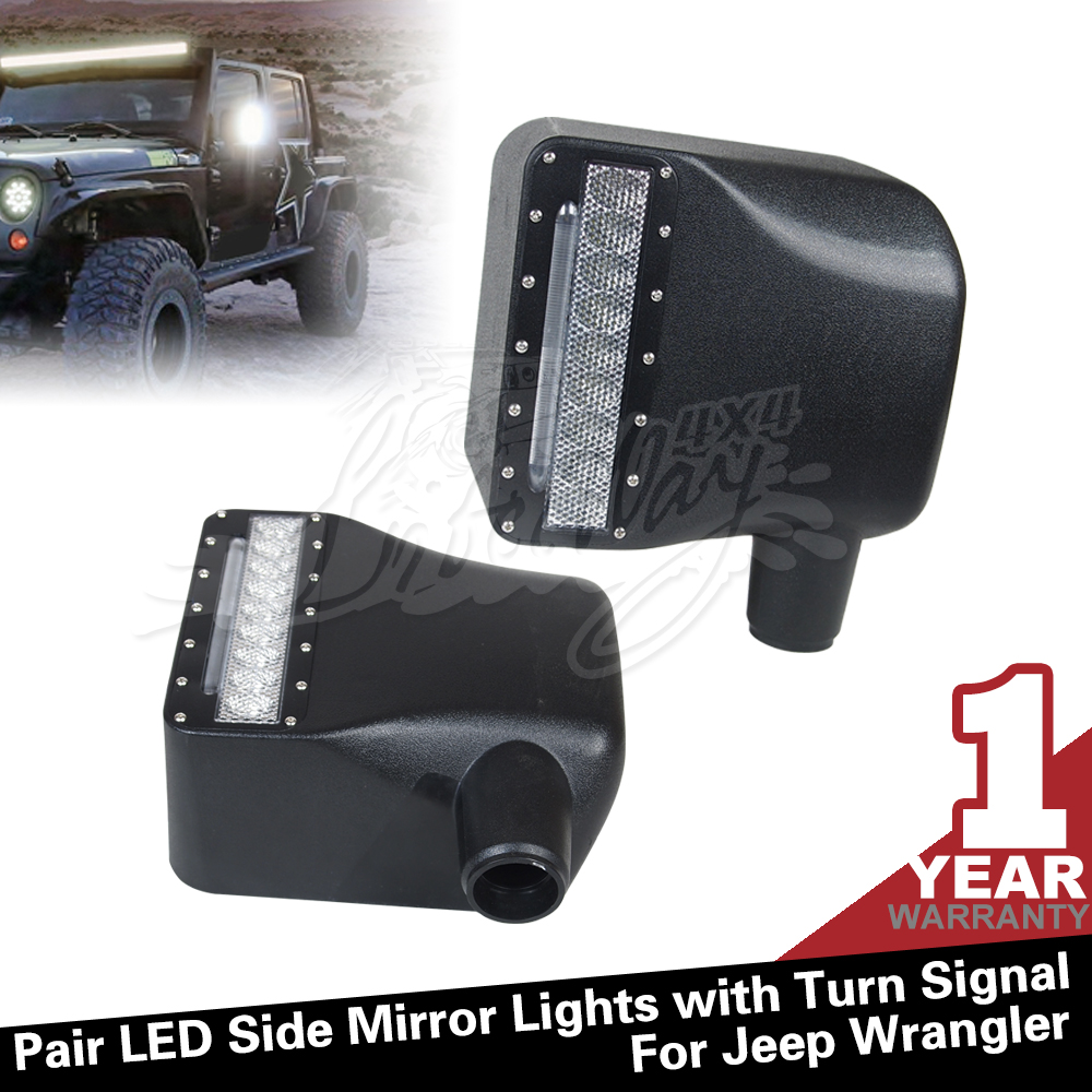 Factory Side Mirror Jeep for Jeep Wrangler Off road Turning Lights