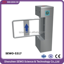 Secure entrance control swing gate turnstile half height pedestrian barrier
