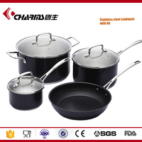 Wholesale Capsule Bottom Casserole Non-Stick Hotel Stainless Steel Kitchen Ware