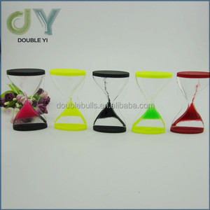 Desktop cute colorful acrylic floating hourglass liquid timer