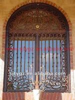 Fashion iron doors and windows is made by wrought iron