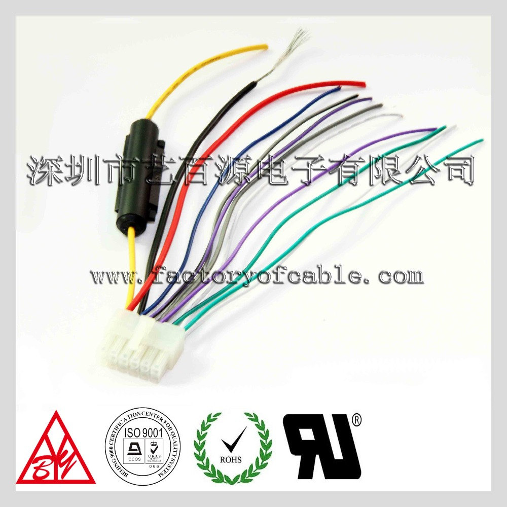 5557 male housing conector automotive wire harness with fuse holder and Automotive Wire Harness Manufacturers