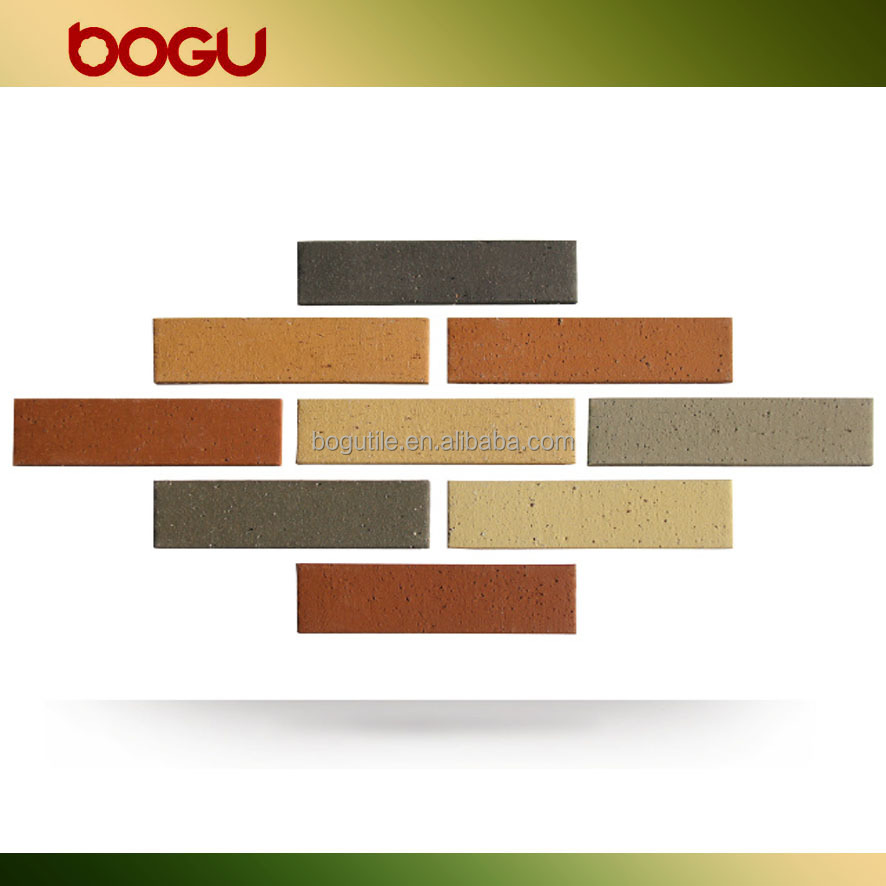 60x240mm decorative exterior ceramic wall facing carrelage, terracotta outdoor brick tiles
