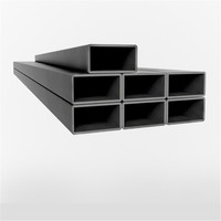 Tianjin SS Group SS400 oiled Black black square steel pipe /tube Building Material of Black Square Pipes for Steel Fence Wall