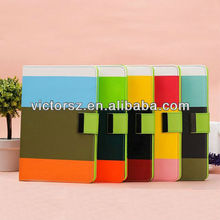 4-Color Clash wallet For Apple iPad Mini leather card cover case