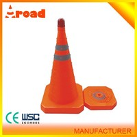 Retractable LED flashing cone light