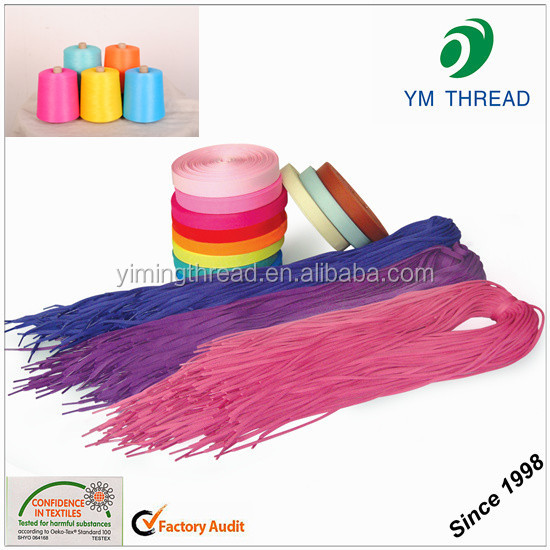 Cone Dyed DTY 100% polyester yarn 150d/48f/2 for shoe laces