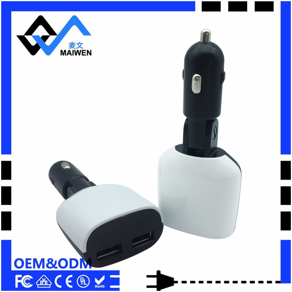 Hot selling mobile phone 2.4A USB Port USB Car Charger folding design convenience used
