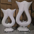 wholesale White Sparkle Mosaic Diamond Huge Stemmed Vase,Wedding event