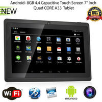 "7"" inch Android 4.4 Quad Core Tablet PC MID 8GB Dual Cameras Wifi Bluetooth BLACK"