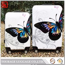 Fancy butterfly anime suitcase , colourful cartoon luggage