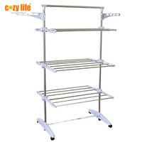 Household factory manufacturer durable aluminum tubes foldable clothes drying rack