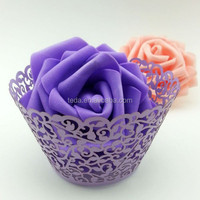 2015Teda Free Shipping Pearl Lilac Ivy Vine cupcake wrappers(ZB-012)