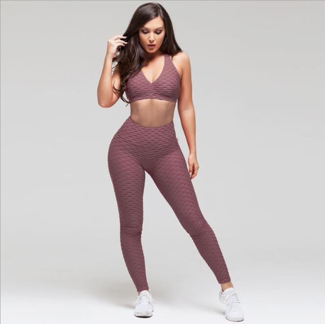 Wholesale <strong>Women</strong> High Waist Yoga Leggings and Bras Sportswear