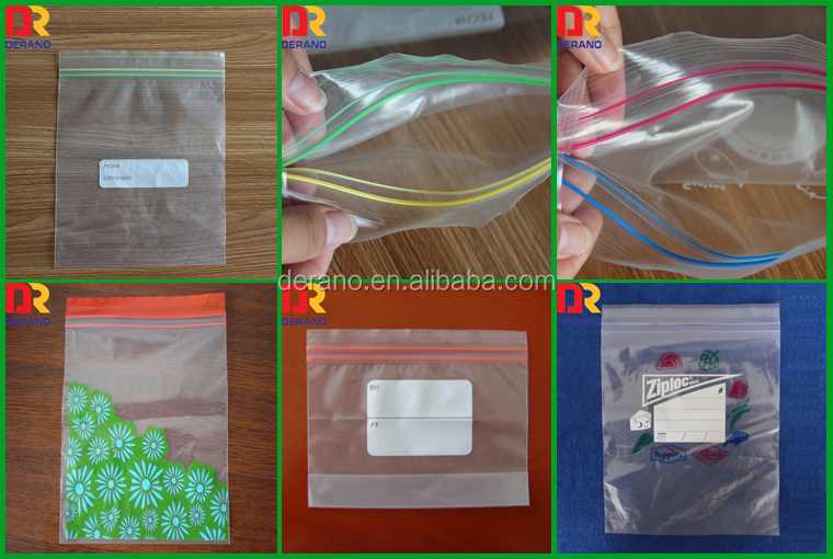 custom logo food pack polythene double track ziplock reclosable bag china alibaba