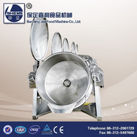 Industrial tilting stainless steel boiling pans
