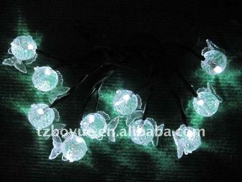 10 Led Soalr String Lights With Little Fish - Buy Solar String Light,Solar Light String,Little ...