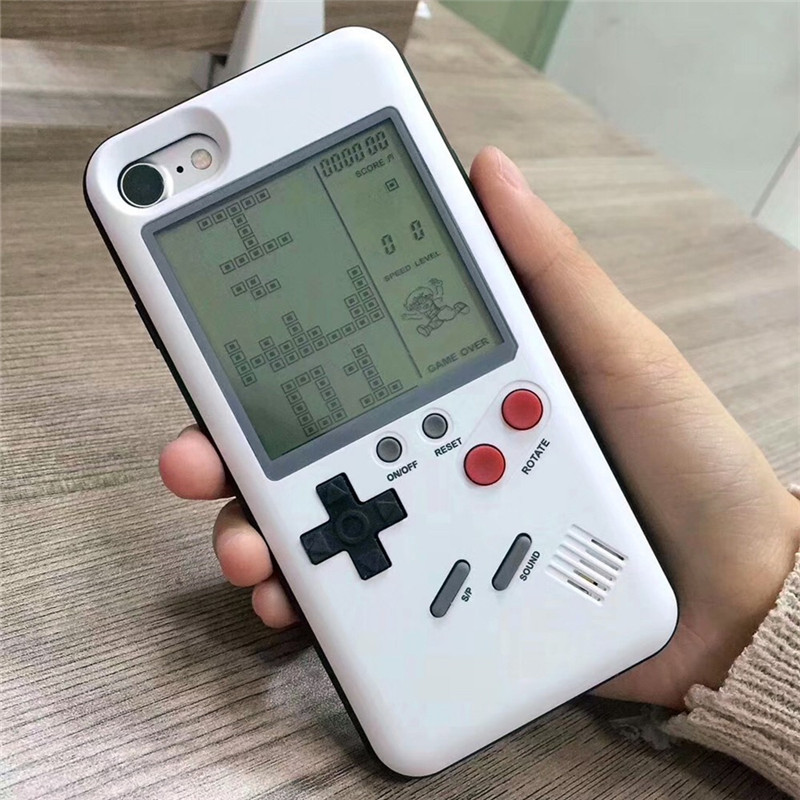 Gameboy Multi Phone Game Case For iPhone X 6 7 8 TPU Game Case Tetris Game Console For Child and Adult