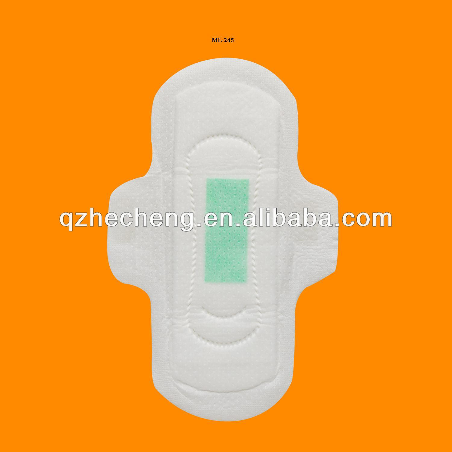 Ultra thin Anion strip sanitary towel ML-245