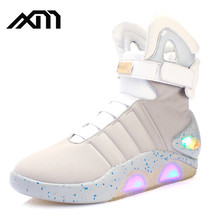 wholesale rechargable light up led sneaker , customize led running light up shoe , adult flashing men luminous light led shoe
