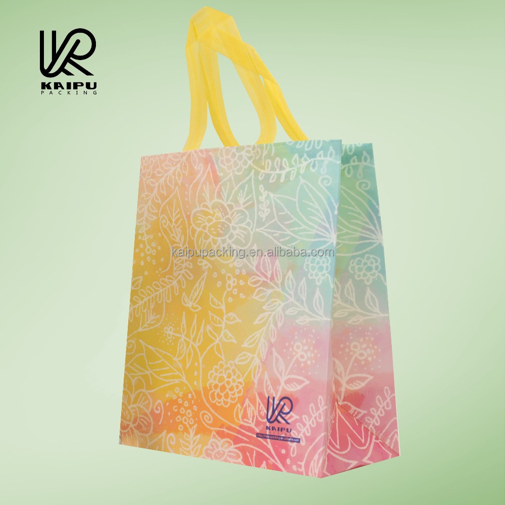 Hot sale shopping bag and promotion bag made of pp laminating non-woven farbic