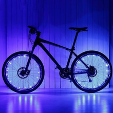 20 LED Motorcycle Cycling Bike Bicycle Wheels Spoke Flash Light Lamp Cuddly Cool Warning Decorative LED Safety Lights