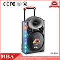 2017 New trolley portable disco light bluetooth speaker, bluetooth speaker with led light