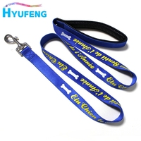 China Retractable Blue Color Silk Screen Printed Smart Dog Leash