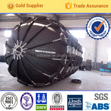 Dia 3.3*4.5m with tires and chains pneumatic ship rubber fender