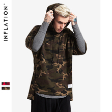 Red Camouflage Hip Hop Men Hoodies Skateboard Hooded Bamboo Cotton Sweartshirt