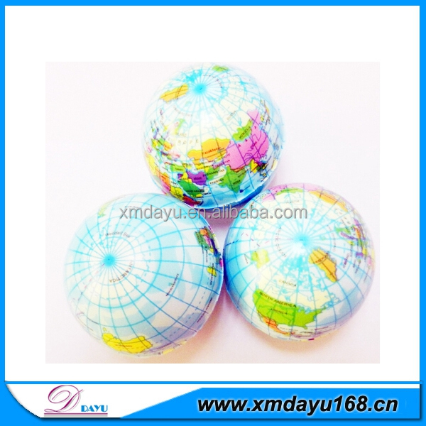 China Wholesale PU Stress Ball Earth Ball Toy
