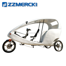 Commercial Use White City Bike Electric Rickshaw China for Sale