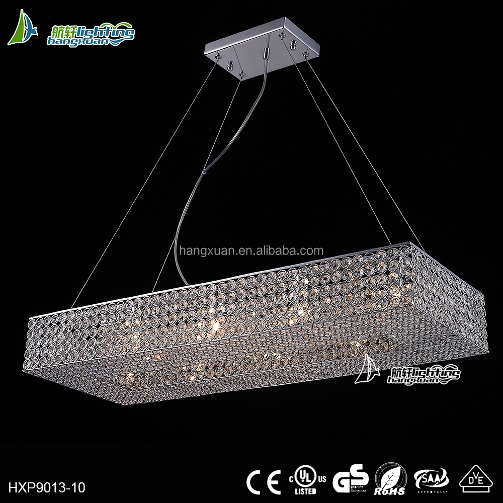 Rectangle cage chandelier lamps quantum pendant price in india HXP9013-10