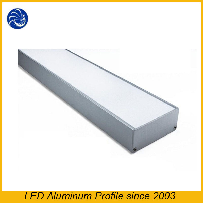 Practicability For Led Strips Anodized Black Base Clear Cove Aluminium Led Lighting Profile