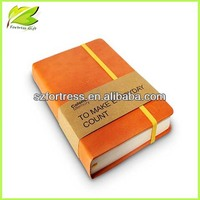 2014 Custom diary notebook with elastic closure made in China