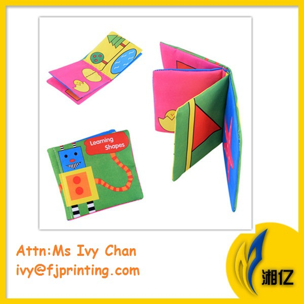 2016 hot selling Fabric Children cloth book, baby fabric interactive book