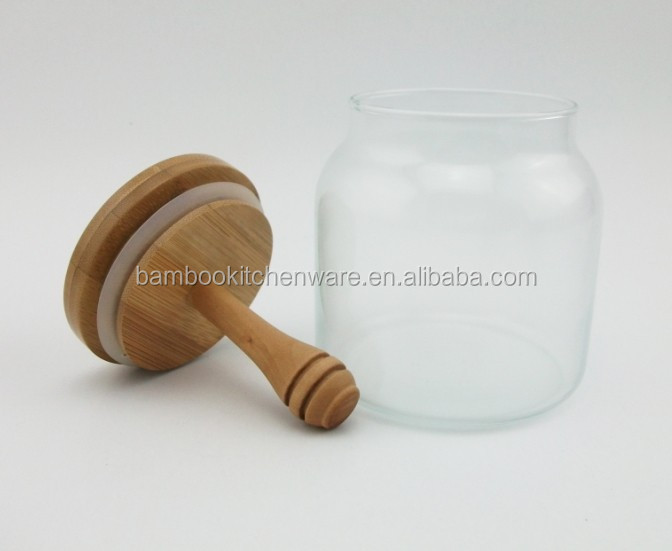 Glass Honey Jar with Dipper