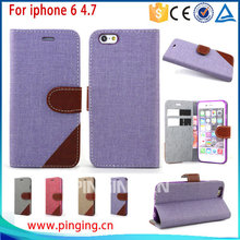 For Iphone 6 Accessory , for Apple iPhone 6 Accessory Stand PU Leather Flip Folio Wallet Case for Apple iPhone 6 4.7 Inch