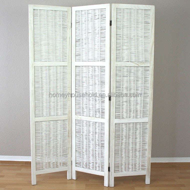 Newly 4Panel Wicker Room Divider ,Screen For Home Decor