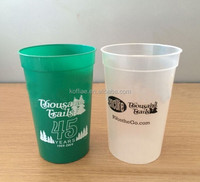 promotion matt finish FDA 10oz 12oz 14oz 400ml PP plastic stadium cup