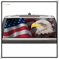2017 Hot Products Car Decoration Vinyl Sticker Eagle Flag Rear Window Graphic Truck View Thru Vinyl Decal Back